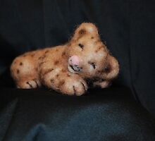 Sleepy Lion Cub by NaturesPlayroom
