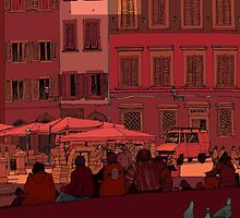 Florence Piazza by David  Kennett