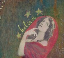 Believe- mixed media collage by CollageMyLife
