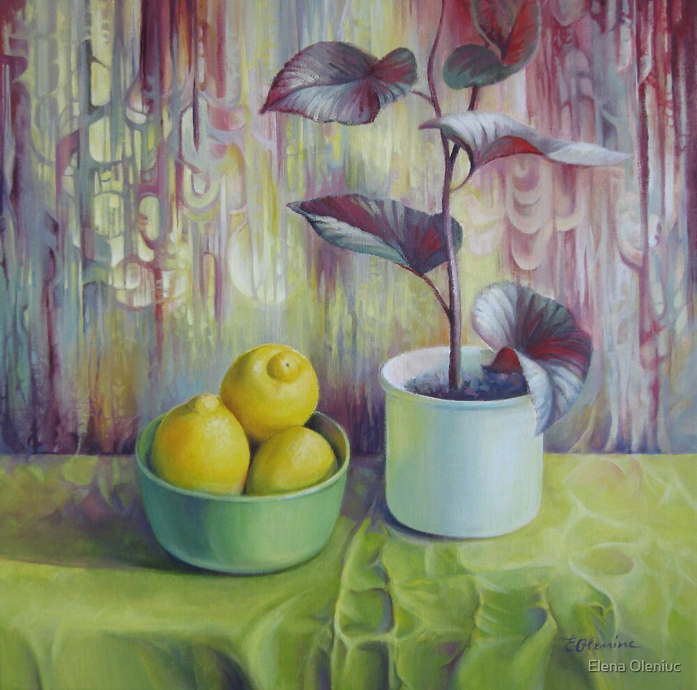 Still life with lemons by Elena Oleniuc