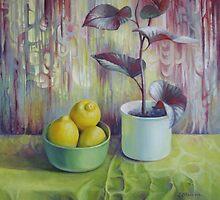 Still life with lemons by Elena Oleniuc