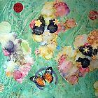 Butterflies and Bubbles- mixed media collage by CollageMyLife
