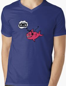 Baked Tuna Longs for a Boombox Mens V-Neck T-Shirt