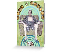 Stud Muffin - collage Greeting Card