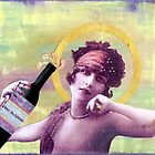 Wine of Love - mixed media by CollageMyLife