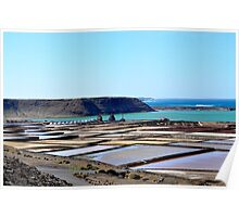 Morning on the salt flats of Janubio Lanzarote Canary Island Poster