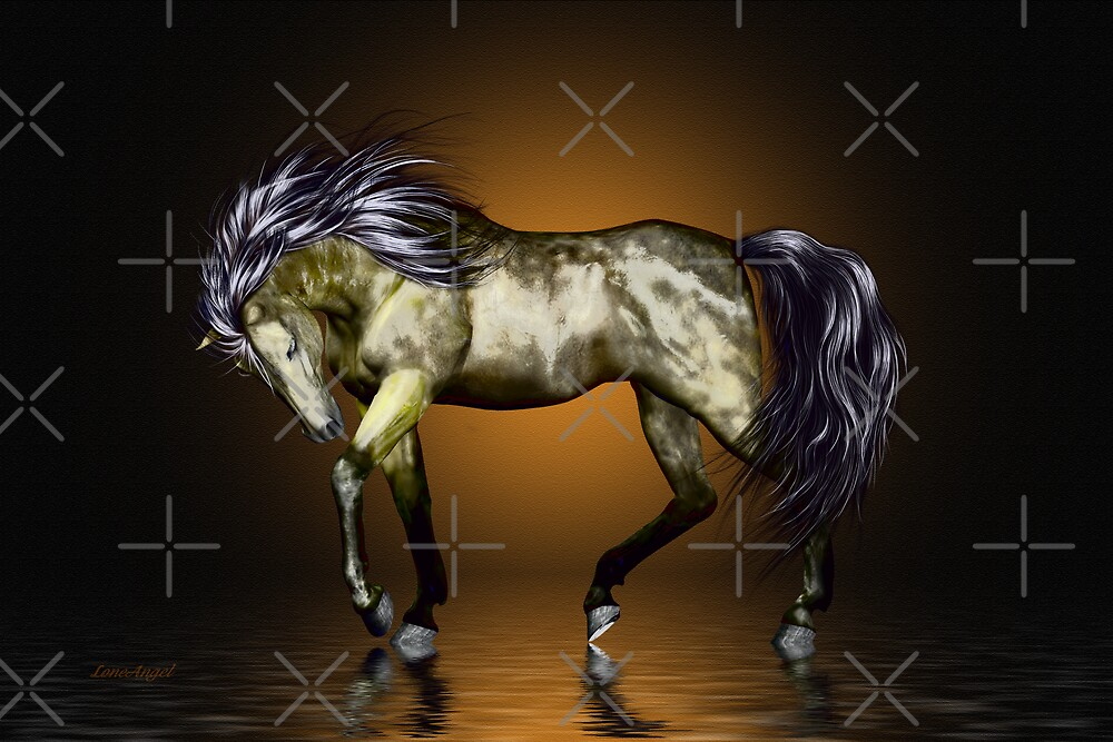 Metalica .. golden stallion  by LoneAngel