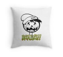 Zombie Neff Brains Iphone Case Throw Pillow