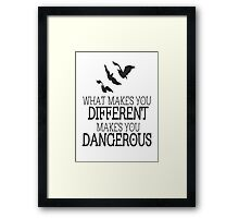 Divergent different quote Framed Print