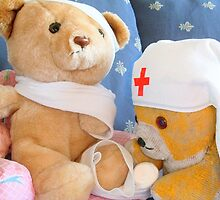 Fred Bear Thinks First Aid is Fun by missmoneypenny