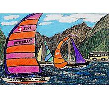 Swiss Sail Photographic Print