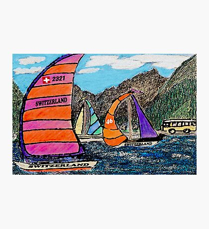 Swiss Sail Photographic Print