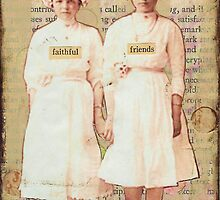 Faithful Friends - mixed media collage by CollageMyLife