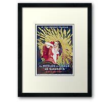 Leonetto Cappiello Affiche Nitrate Le Gaulois Framed Print