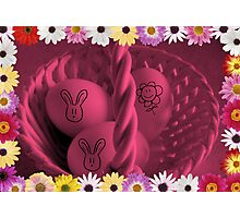 Jazzy Easter Basket Photographic Print