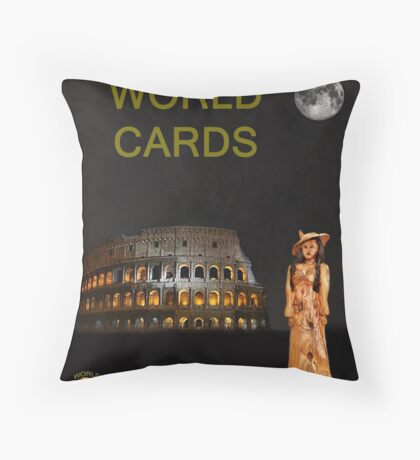 World Fashion Throw Pillow