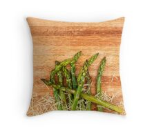 Grilled asparagus and parmesan cheese. Throw Pillow