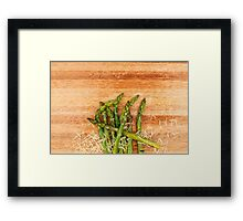 Grilled asparagus and parmesan cheese. Framed Print