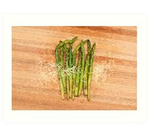 Grilled asparagus and parmesan cheese Art Print