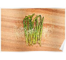 Grilled asparagus and parmesan cheese Poster