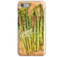 Grilled asparagus and parmesan cheese iPhone Case/Skin