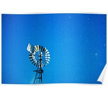 Stars by the windmill Poster