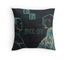 Face Off - Breaking Bad Throw Pillow