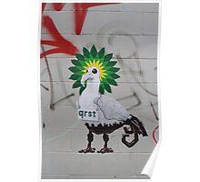 Oil spill survivor  Poster