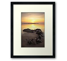 Black Rocks Sunset Framed Print
