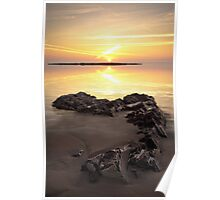 Black Rocks Sunset Poster