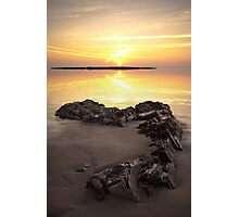 Black Rocks Sunset Photographic Print