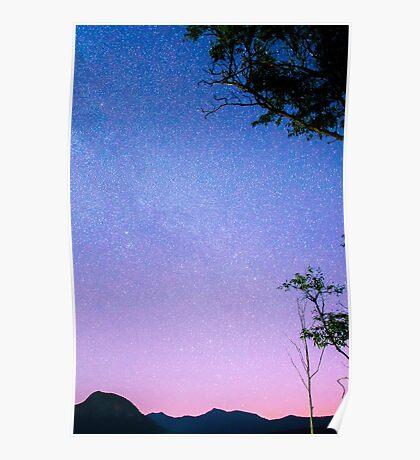 Stars over Lake Moogerah Poster
