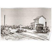 Édouard Riou Chemin de fer Dakar Saint Louis 1889 Poster