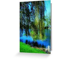 Beautiful weeping willow tree ©  Greeting Card