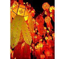 """""""Thai New Year Lanterns"""" Chiang Mai, Thailand Photographic Print"""