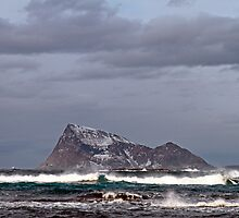 Waves in the arctic by Frank Olsen