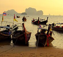 Boat Taxi to Railay Thailand by Breanna Stewart