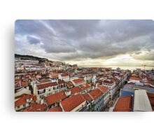 Lisbon... from the rooftops Canvas Print
