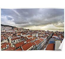 Lisbon... from the rooftops Poster