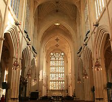A Beautiful Gothic Cathedral At Bath, England by miradorpictures
