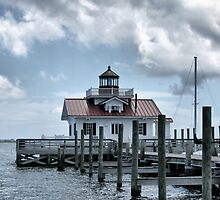 Roanoke Marshes Lighthouse by Monnie Ryan