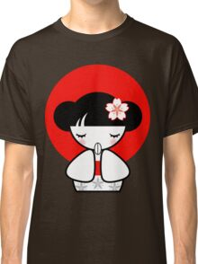 Pray for Japan Kokeshi Doll Classic T-Shirt