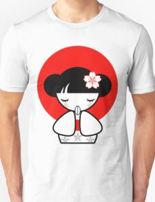 Pray for Japan Kokeshi Doll Unisex T-Shirt