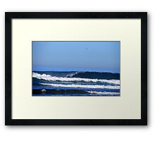 Waving Waves Framed Print