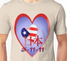 American Love and Support For Japan (date) Unisex T-Shirt