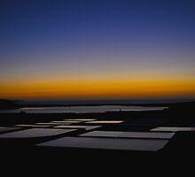 Sunset on the salt flats of Janubio Lanzarote Canary Island by Alessandra Antonini