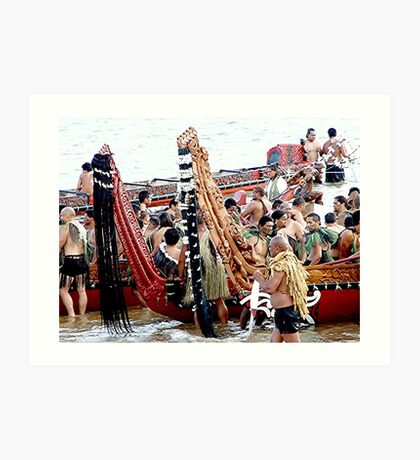 Gathering of the Waka's! (canoes) Art Print