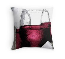 A Bottle Of Red Wine Throw Pillow