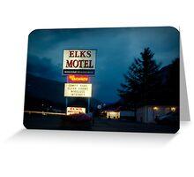 Elks Motel Greeting Card