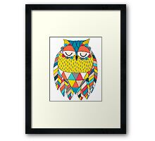 Aztec Owl Illustration Framed Print